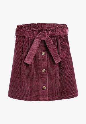 CORD  - A-line skirt - dark purple