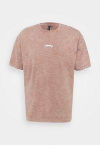 STONE ACID WASH BACK BUTTERFLY UNISEX - Print T-shirt - stone