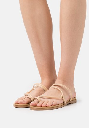 MULTI STRAP WITH TOE LOOP - T-bar sandals - nude