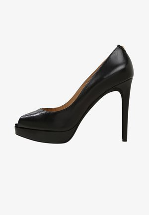 ERIKA PLATFORM - Peeptoe heels - black