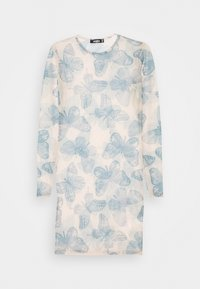 Missguided - BUTTERFLY PRINT CREW NECK MINI DRESS - Denní šaty - blue - 4