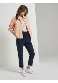 TOM TAILOR - COLORED TWILL - Denim jacket - peach blossom - 1