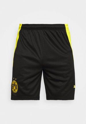 BVB BORUSSIA DORTMUND REPLICA - Pantaloncini sportivi - black/cyber yellow