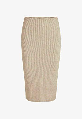 VIRIL PENCIL SKIRT - Pencil skirt - natural melange