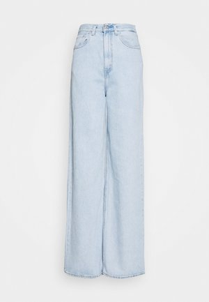 HIGH LOOSE - Flared Jeans - light indigo - flat finish