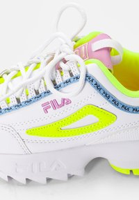 Fila - DISRUPTOR KIDS - Trainers - white/neon lime - 5