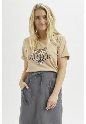 CRMEDLY  - T-shirt imprimé - sesame