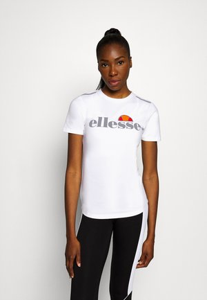 DELLE - Print T-shirt - white