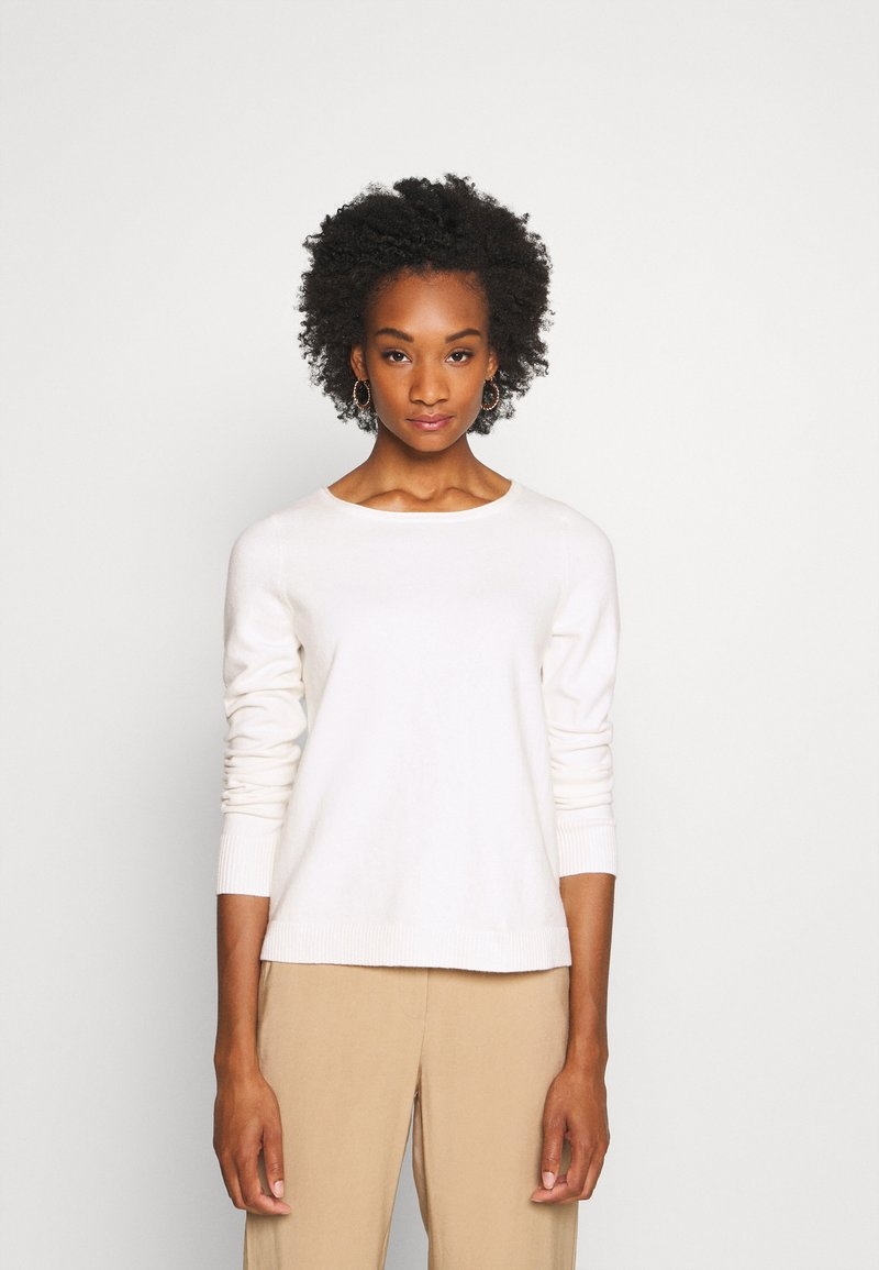 Marc O'Polo - LONGSLEEVE BASIC WITH ROUNDNECK - Jumper - off white