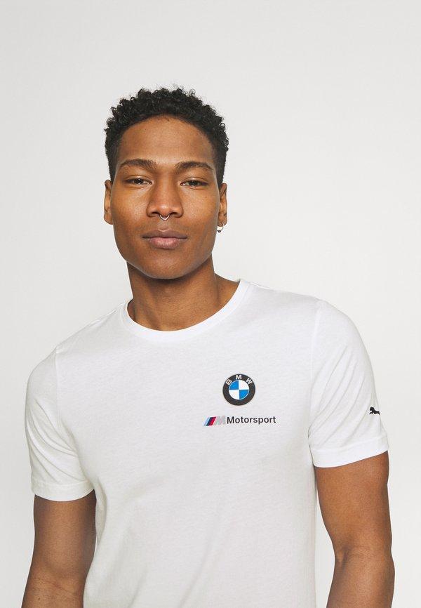 Puma SMALL LOGO TEE - T-shirt z nadrukiem - white/biały Odzież Męska GXUS