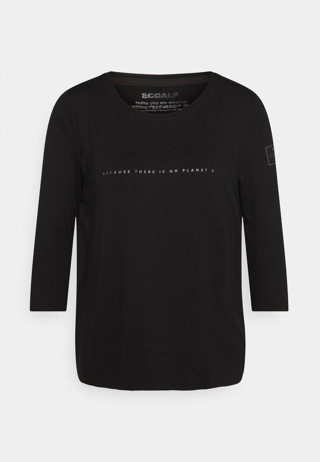 VELETA WOMAN - T-shirt à manches longues - black