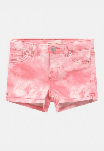 TIE DYE - Denim shorts - peony