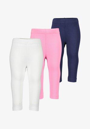 BASICS - Leggings - Trousers - weiss azalee nachtblau