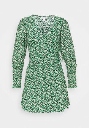 SHIBUYA DITSY WRAP DRESS - Day dress - green