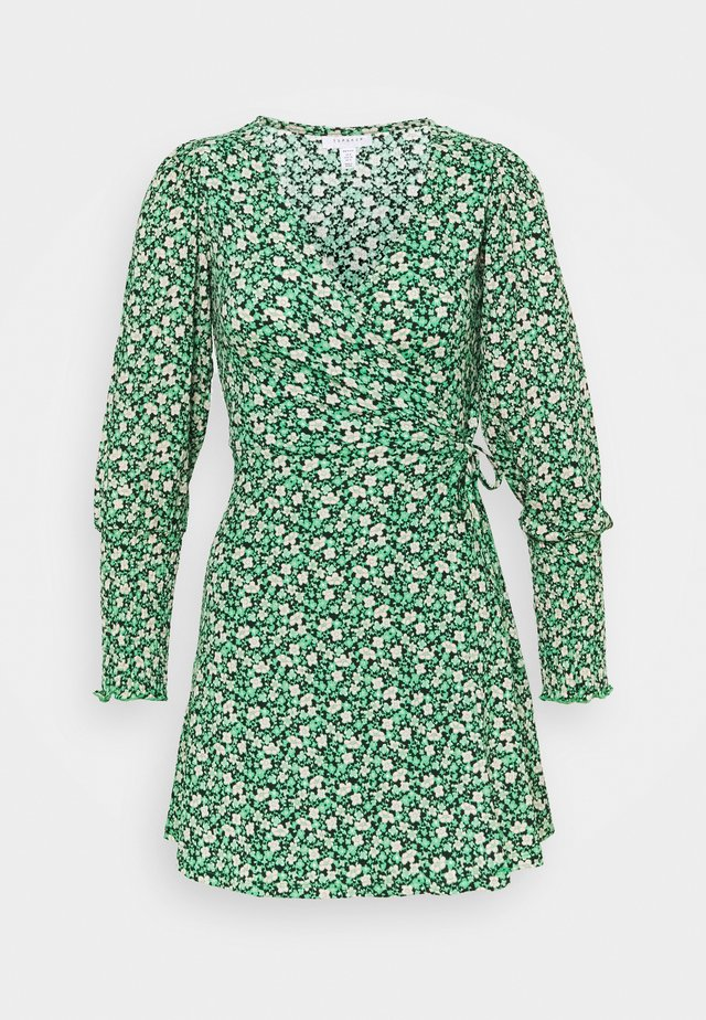 SHIBUYA DITSY WRAP DRESS - Day dress - green