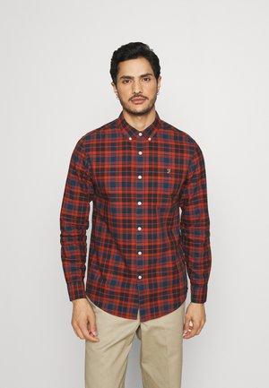 BREWER CHECK - Overhemd - raw umber