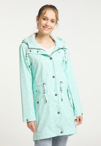 Waterproof jacket - pastellmint aop