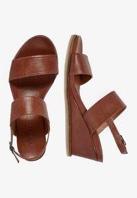 Bianco - Wedge sandals - cognac - 2