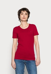 Tommy Hilfiger - COOL SOLID ROUND - T-shirt basic - red - 0