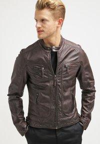 Oakwood - CASEY  - Kožená bunda - dark brown - 0