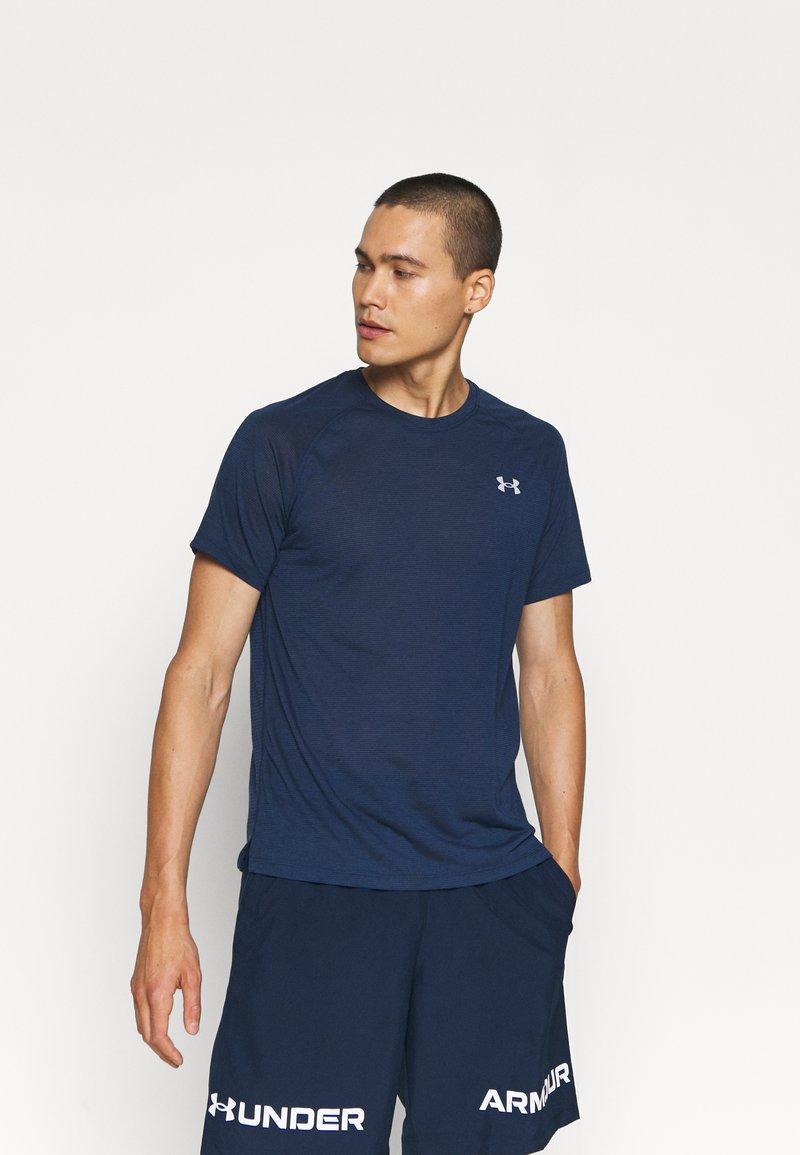 Under Armour - STREAKER - T-shirt - bas - dark blue