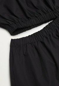 Mango - MIT SCHLITZ - Day dress - schwarz - 6