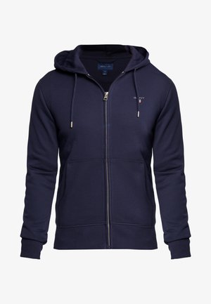 THE ORIGINAL FULL ZIP HOODIE - Felpa aperta - evening blue