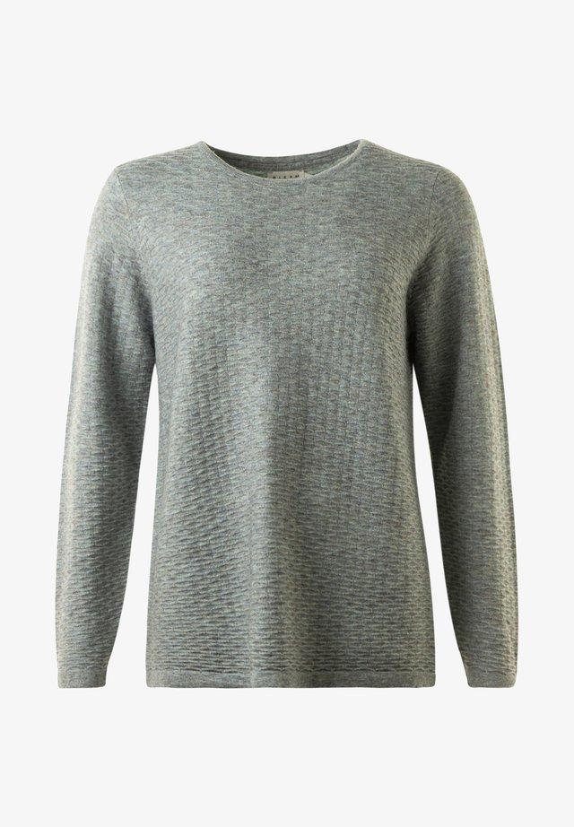 Stickad tröja -  green melange