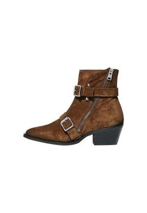 LIOR - Cowboy/biker ankle boot - tan