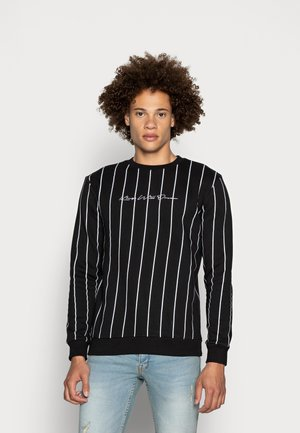 CLIFTON WITH VERTICAL STRIPE - Sweatshirt - black