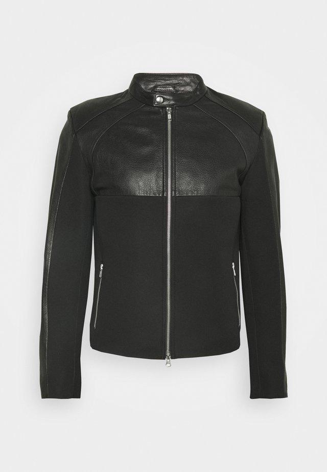 LENI - Leren jas - black