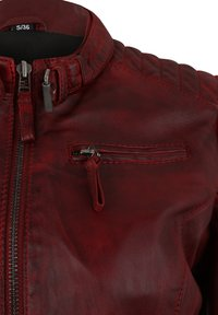 7eleven - Leather jacket - red - 3