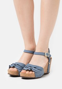 Copenhagen Shoes - ELVIRA  - Platform sandals - jeans blue - 0