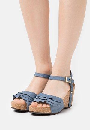ELVIRA  - Platform sandals - jeans blue