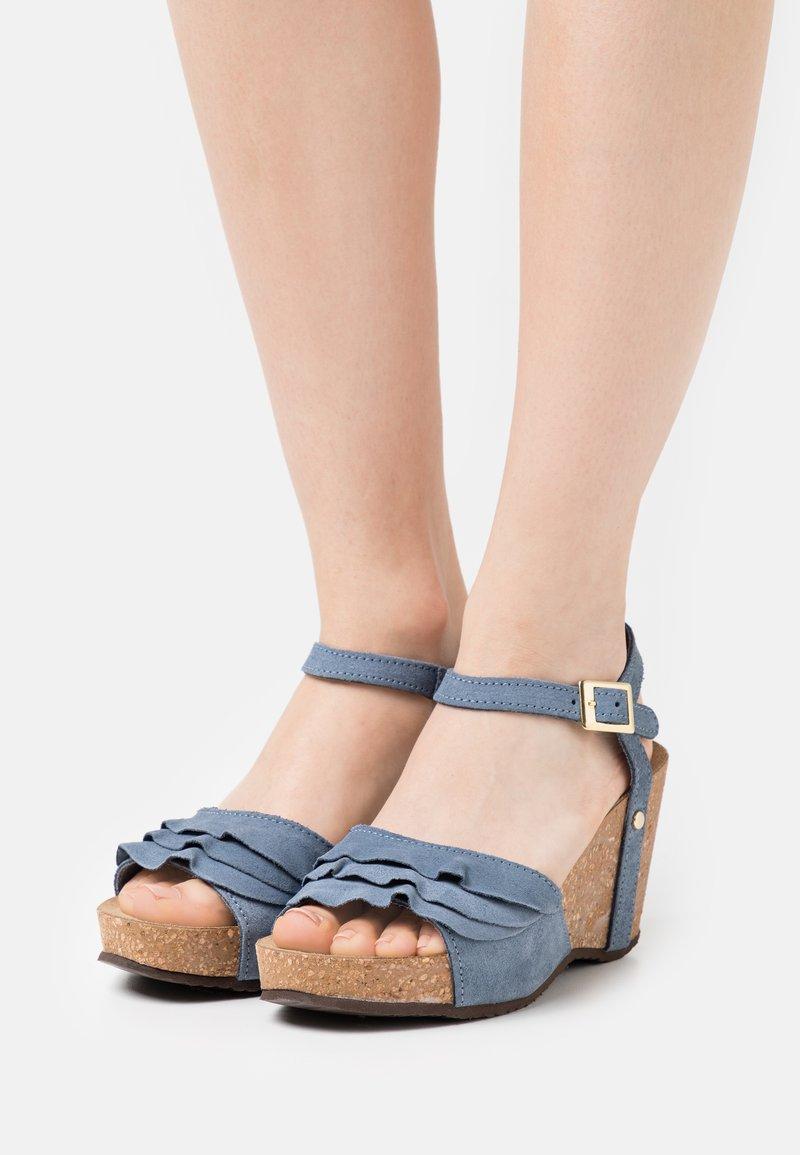 Copenhagen Shoes - ELVIRA  - Platform sandals - jeans blue