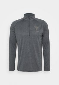 Under Armour - PROJECT ROCK TECH ZIP - Funktionstrøjer - pitch gray light heather - 3