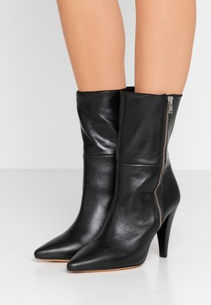 LEONA - High heeled ankle boots - black