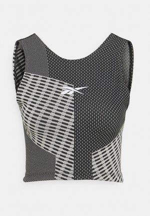 SEAMLESS CROP - Top - black
