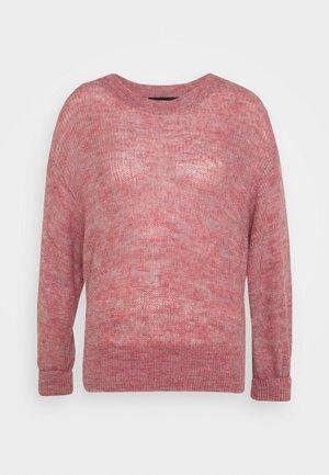 VMVILMA O-NECK - Pullover - wild rose/melange