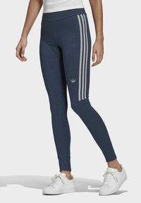adidas Originals - TIGHTS - Leggings - Trousers - crew navy/white - 0