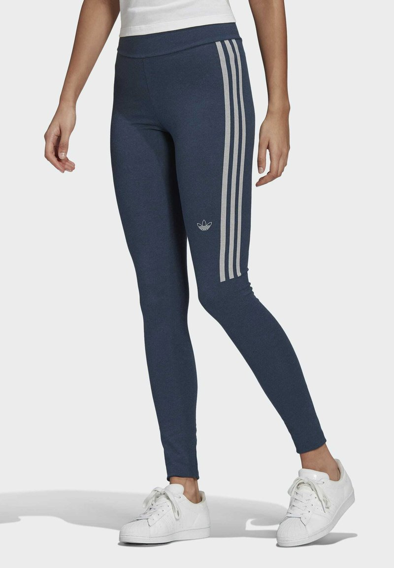 adidas Originals - TIGHTS - Leggings - Trousers - crew navy/white