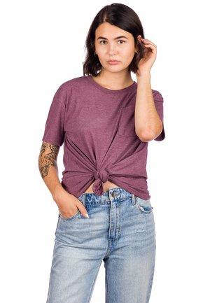 REHN  - Print T-shirt - winetasting hthr