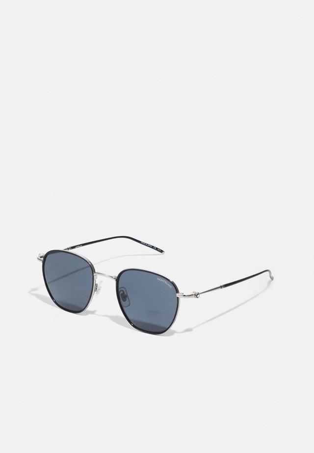 UNISEX - Sluneční brýle - black/silver-coloured/grey