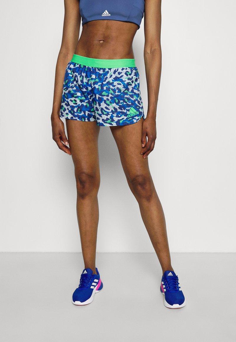 adidas Performance - ADIZERO SPLIT - Pantalón corto de deporte - bold blue/semi screaming green