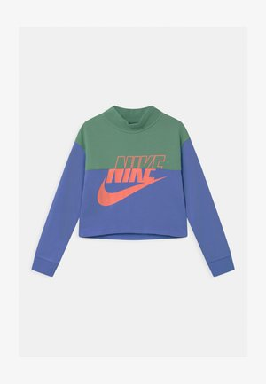 CROP CREW - Sweatshirt - healing jade /royal pulse/atomic pink