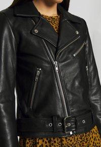 Pieces - PCNICOLINE JACKET - Leather jacket - black - 4
