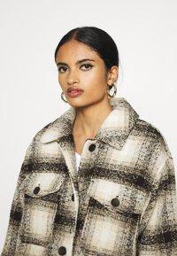 ONLY - ONLALLISON CHECK SHACKET - Winter jacket - pumice stone/black - 3