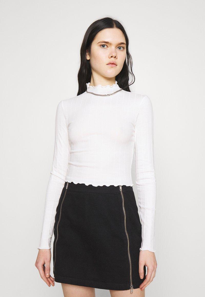 Monki - BLAZE 2 PACK - Long sleeved top - black / white