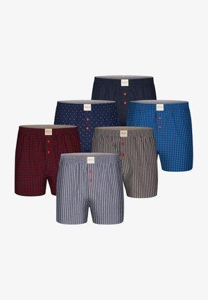6 PACK  - Boxershort - dark red,dark blue
