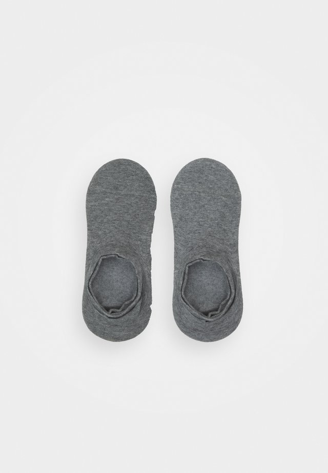 MEN FOOTIE 2 PACK - Trainer socks - middle grey melange